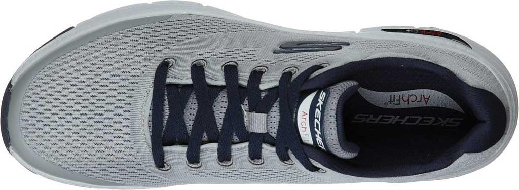 Men's Skechers Arch Fit Sneaker, Gray/Navy, large, image 4