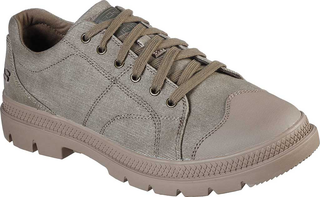 Men's Skechers Relaxed Fit Roadout Pelson Sneaker, Taupe, large, image 1