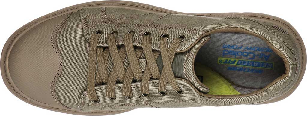 Men's Skechers Relaxed Fit Roadout Pelson Sneaker, Taupe, large, image 4