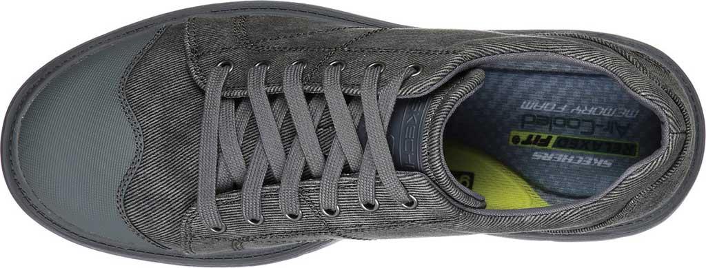 Men's Skechers Relaxed Fit Roadout Pelson Sneaker, Gray, large, image 4