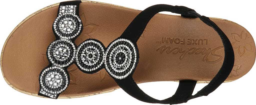 Women's Skechers Beverlee Date Glam Wedge Sandal, Black, large, image 4