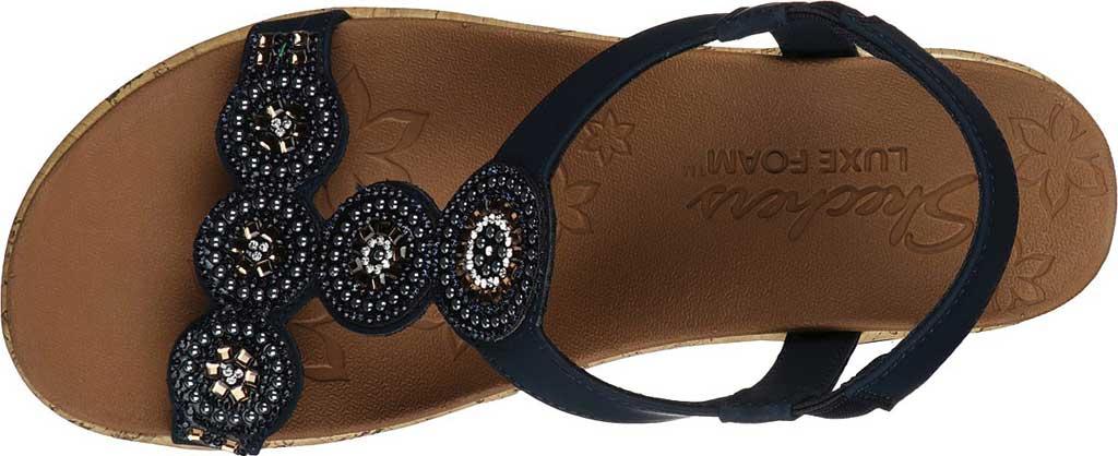 Women's Skechers Beverlee Date Glam Wedge Sandal, Navy, large, image 4