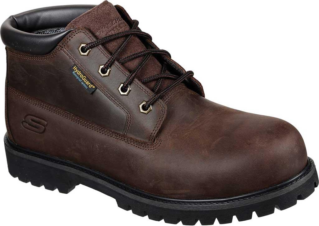 Men's Skechers Work Trevok ST WP Boot, Chocolate Dark Brown, large, image 1