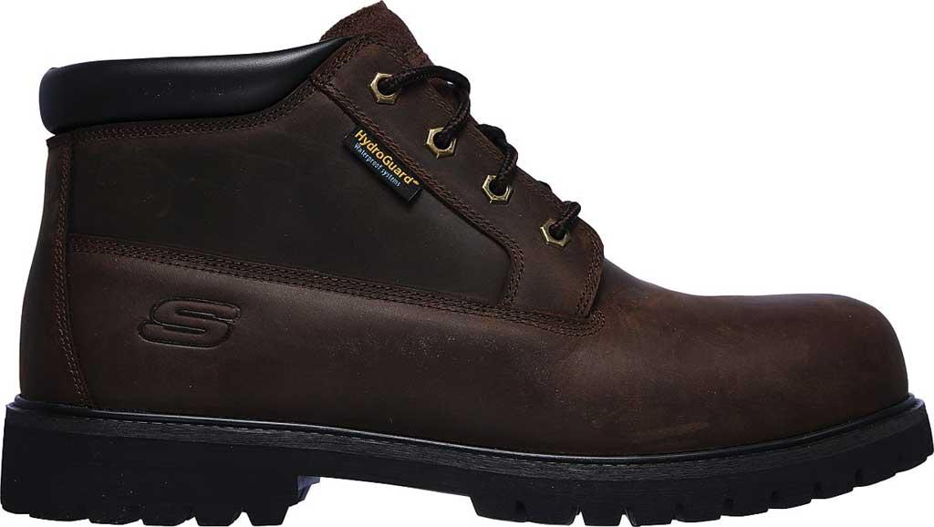 Men's Skechers Work Trevok ST WP Boot, Chocolate Dark Brown, large, image 2