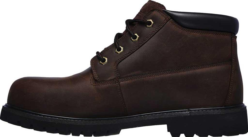 Men's Skechers Work Trevok ST WP Boot, Chocolate Dark Brown, large, image 3