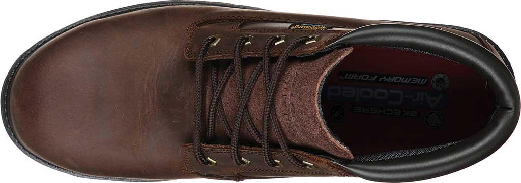 Men's Skechers Work Trevok ST WP Boot, Chocolate Dark Brown, large, image 4