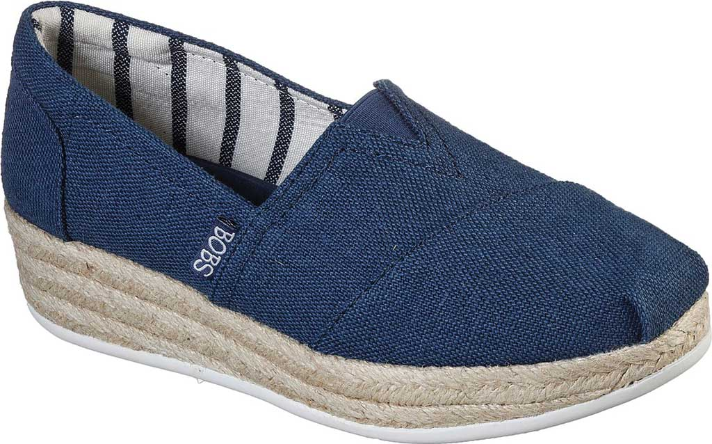 Women's Skechers BOBS Highlights 2.0 Fairy Duster Espadrille, Navy, large, image 1