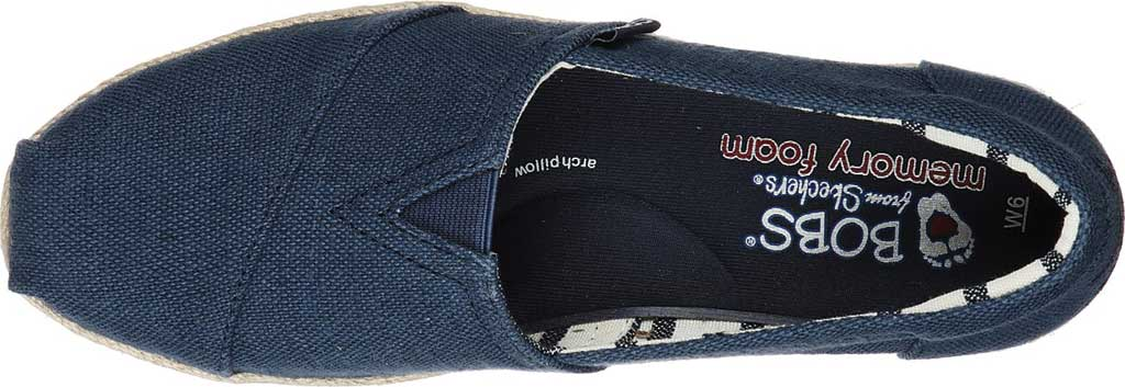 Women's Skechers BOBS Highlights 2.0 Fairy Duster Espadrille, Navy, large, image 4