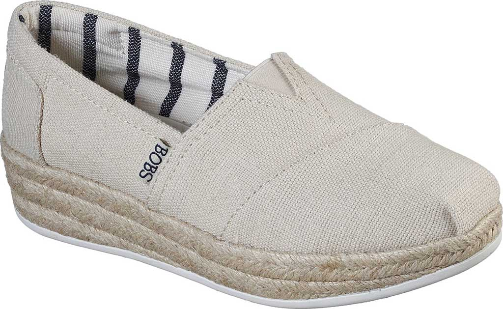 Women's Skechers BOBS Highlights 2.0 Fairy Duster Espadrille, Natural, large, image 1