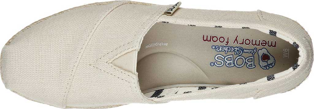 Women's Skechers BOBS Highlights 2.0 Fairy Duster Espadrille, Natural, large, image 4