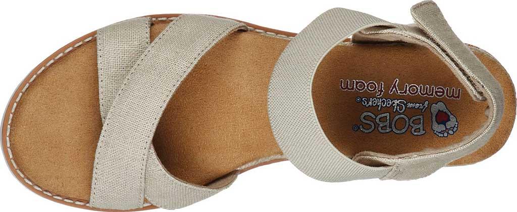 Women's Skechers BOBS Desert Kiss Secret Picnic Wedge Sandal, Natural, large, image 4