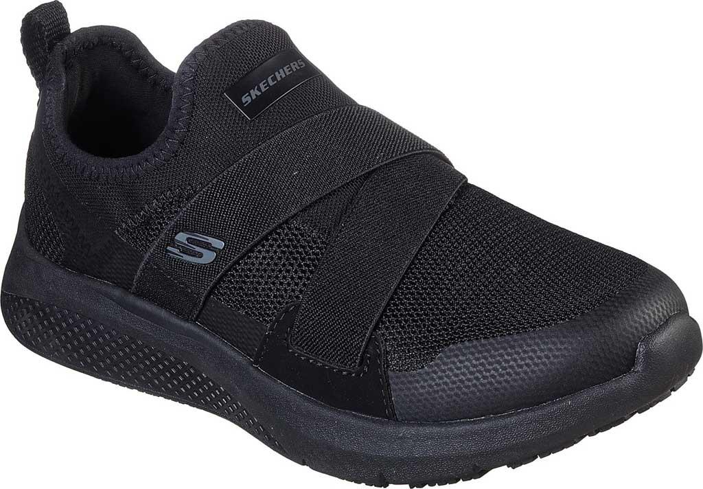 Women's Skechers Work Elloree Slip Resistant Shoe, Black, large, image 1