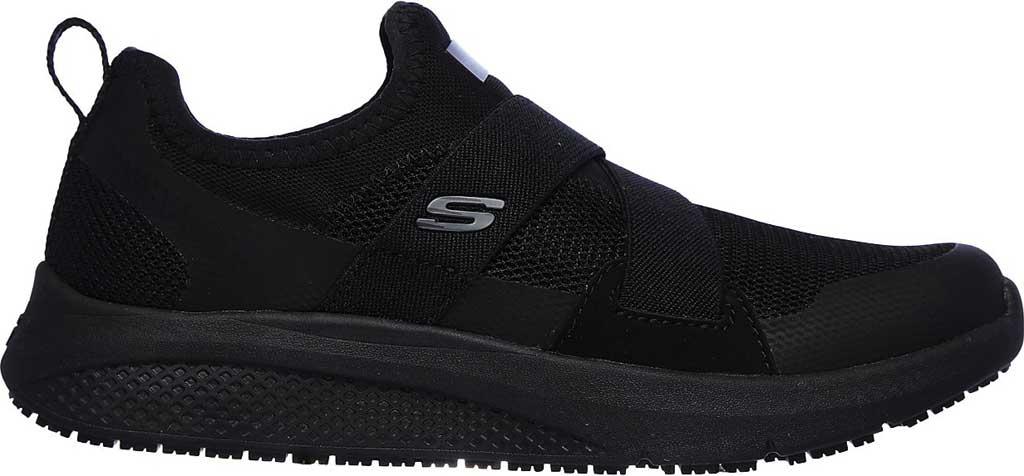 Women's Skechers Work Elloree Slip Resistant Shoe, Black, large, image 2