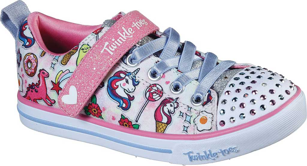 Girls' Skechers Twinkle Toes Sparkle Lite Dreamyland Sneaker, Light Pink/Multi, large, image 1