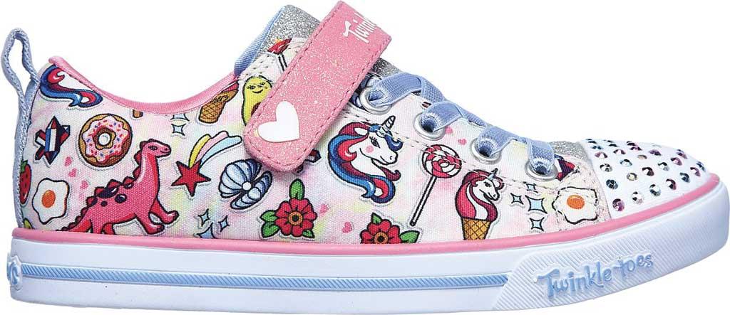 Girls' Skechers Twinkle Toes Sparkle Lite Dreamyland Sneaker, Light Pink/Multi, large, image 2