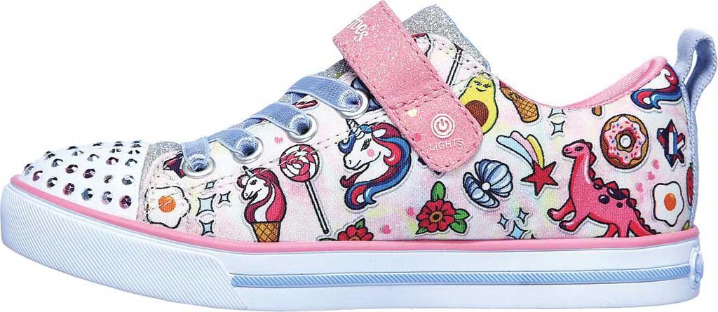 Girls' Skechers Twinkle Toes Sparkle Lite Dreamyland Sneaker, Light Pink/Multi, large, image 3