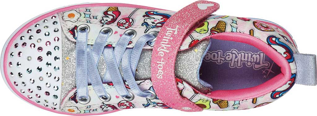Girls' Skechers Twinkle Toes Sparkle Lite Dreamyland Sneaker, Light Pink/Multi, large, image 4