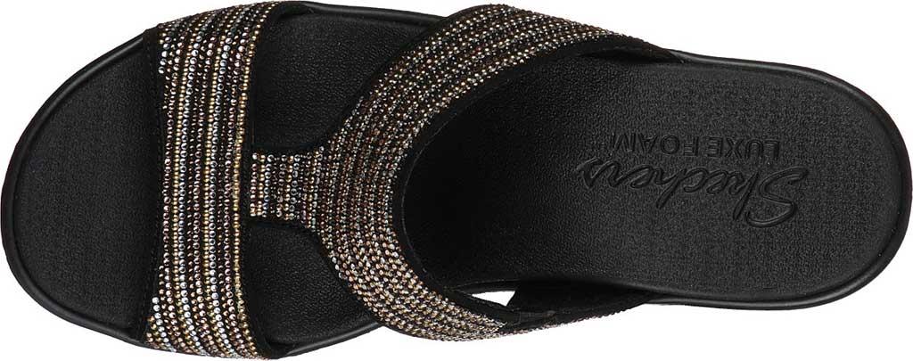 Women's Skechers Rumble On Bling Gal Wedge Sandal, Black/Multi, large, image 4