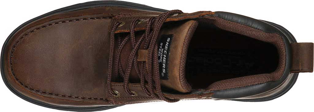 Men's Skechers Work Relaxed Fit Vickburk ST Boot, Chocolate Dark Brown, large, image 4