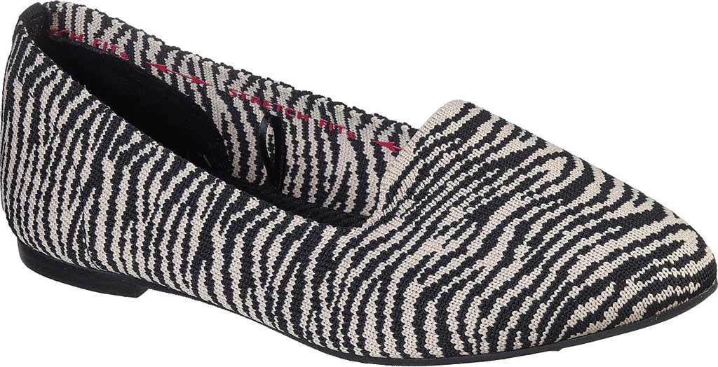 Women's Skechers Cleo Knitty Kitty Flat, Natural/Black, large, image 1