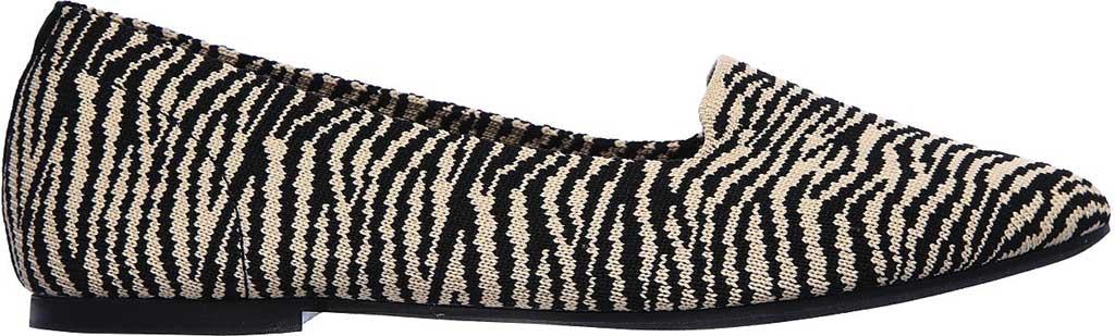 Women's Skechers Cleo Knitty Kitty Flat, Natural/Black, large, image 2