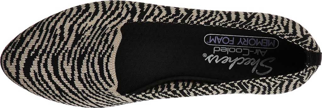 Women's Skechers Cleo Knitty Kitty Flat, Natural/Black, large, image 4