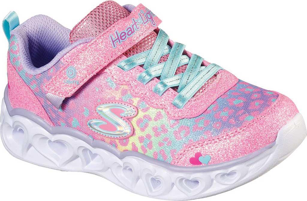 Girls' Skechers S Lights Heart Lights Love Match Sneaker, Pink/Multi, large, image 1