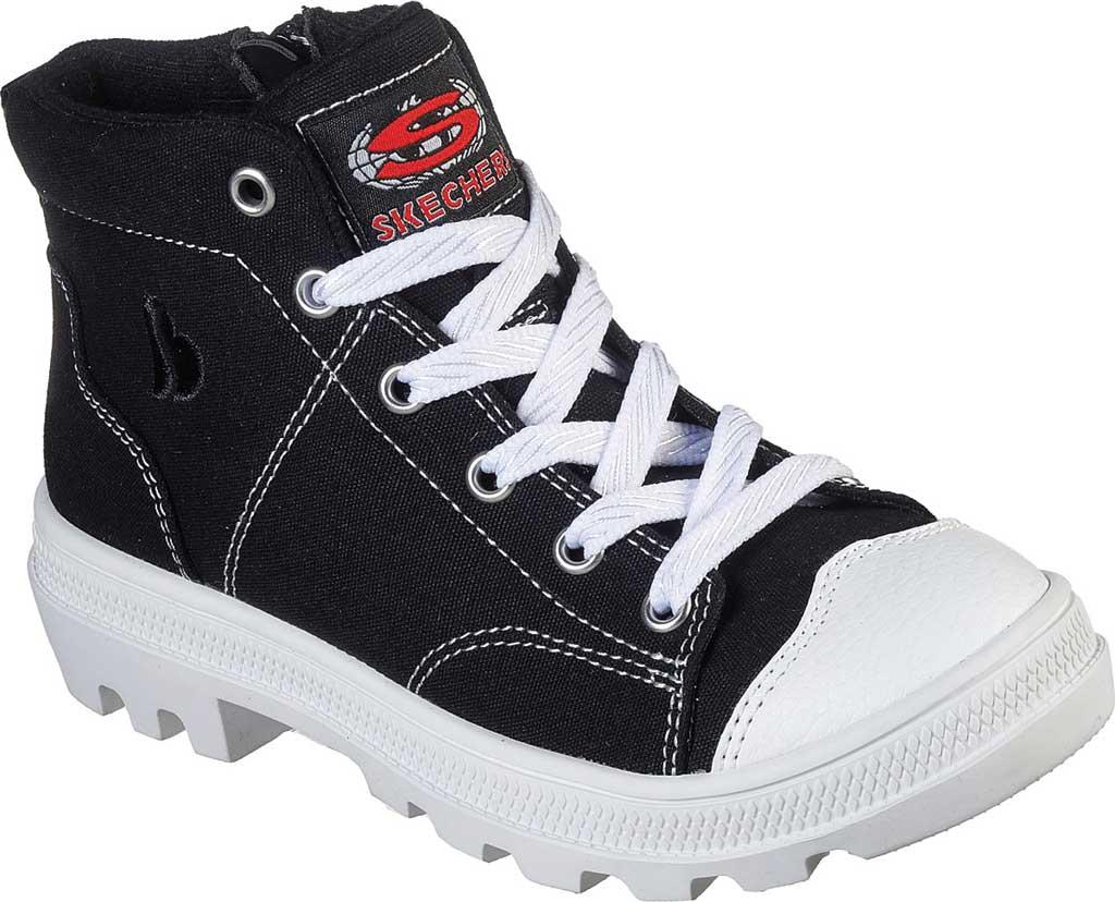Girls' Skechers Roadies True Roots Hi Sneaker, Black, large, image 1