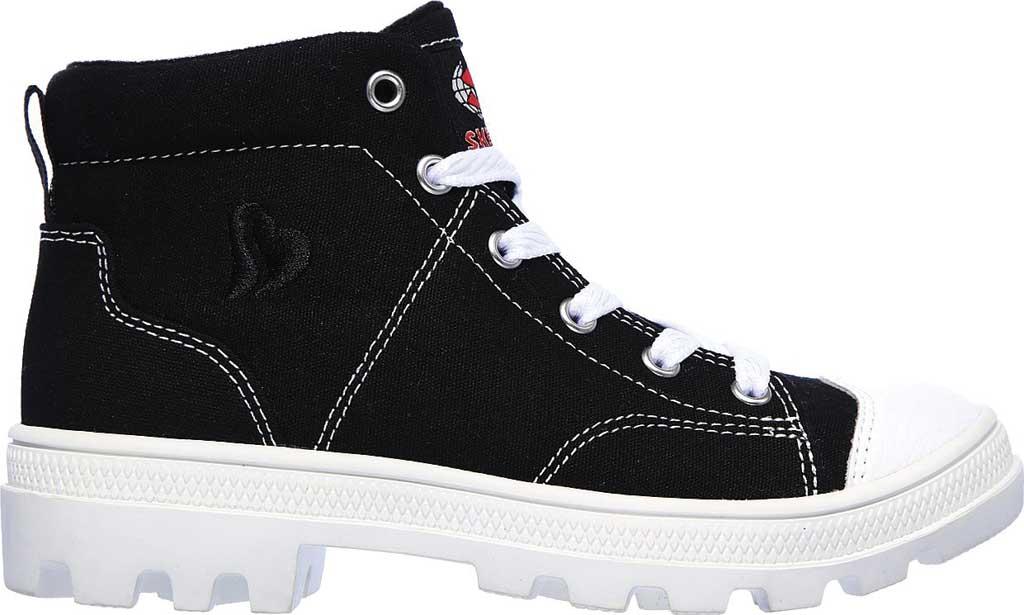 Girls' Skechers Roadies True Roots Hi Sneaker, Black, large, image 2