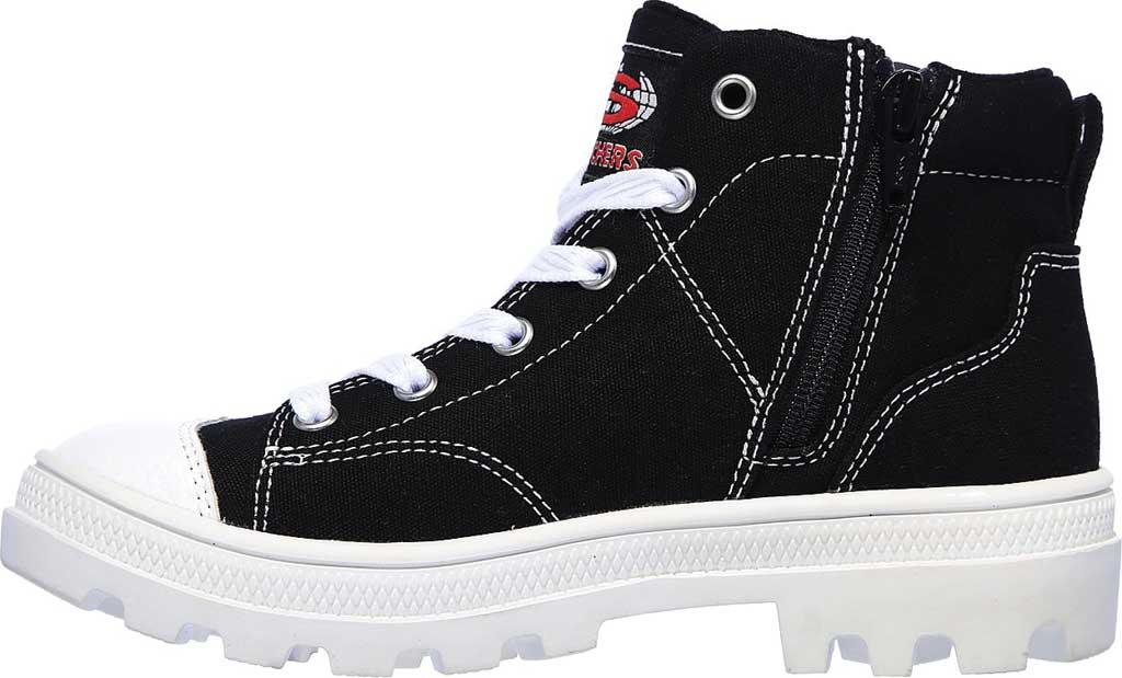 Girls' Skechers Roadies True Roots Hi Sneaker, Black, large, image 3