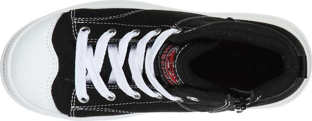 Girls' Skechers Roadies True Roots Hi Sneaker, Black, large, image 4