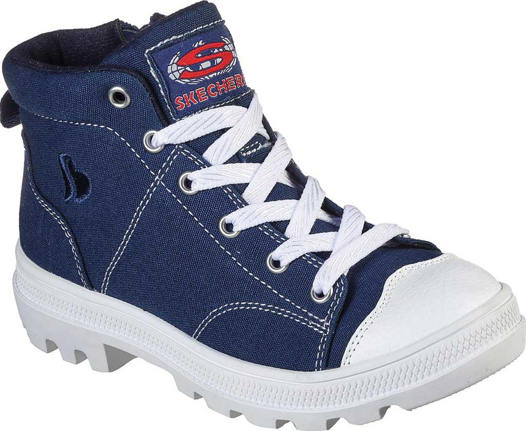 Girls' Skechers Roadies True Roots Hi Sneaker, Navy, large, image 1