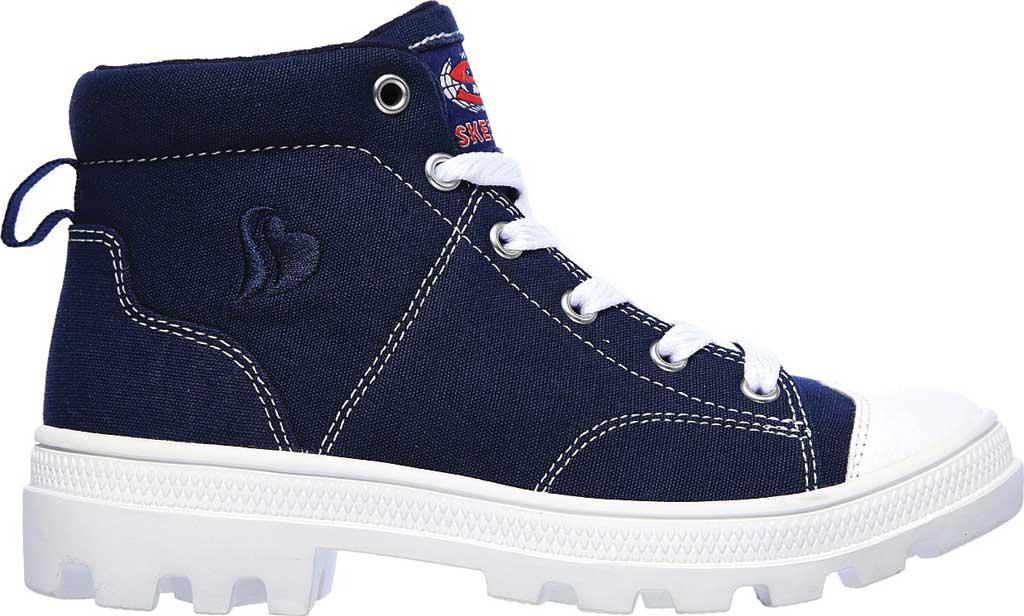 Girls' Skechers Roadies True Roots Hi Sneaker, Navy, large, image 2