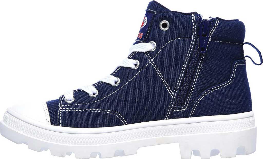 Girls' Skechers Roadies True Roots Hi Sneaker, Navy, large, image 3