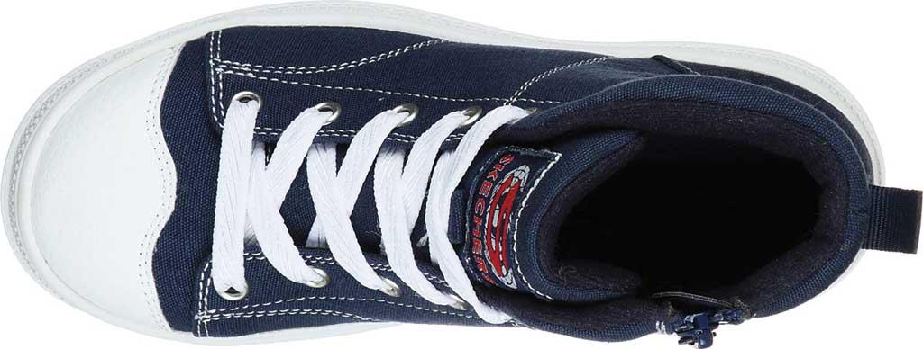 Girls' Skechers Roadies True Roots Hi Sneaker, Navy, large, image 4