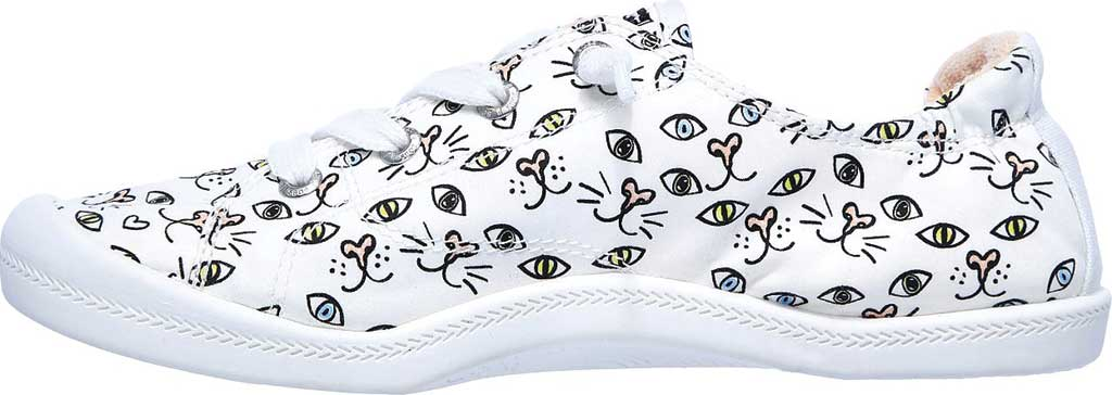Women's Skechers BOBS Beach Bingo Painter Paws Sneaker, White/Multi, large, image 3
