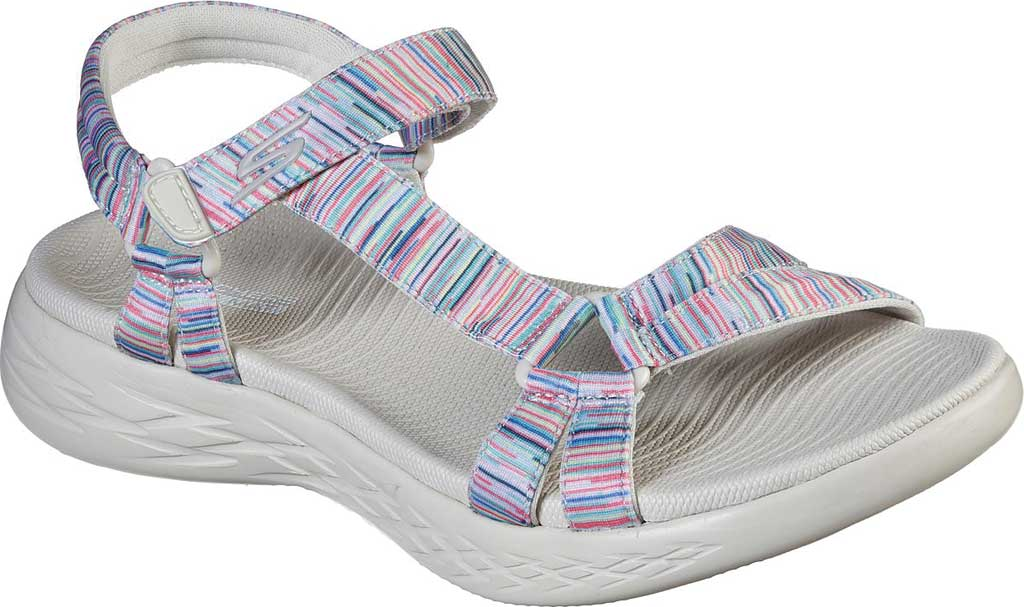 Women's Skechers On the GO 600 Electric Active Sandal, Natural/Multi, large, image 1