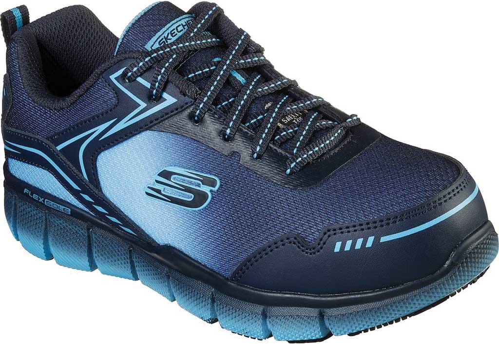 Women's Skechers Work Telfin Arterios Alloy Toe Sneaker, Navy/Blue, large, image 1