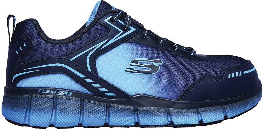 Women's Skechers Work Telfin Arterios Alloy Toe Sneaker, Navy/Blue, large, image 2