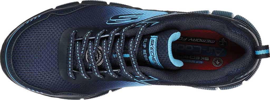 Women's Skechers Work Telfin Arterios Alloy Toe Sneaker, Navy/Blue, large, image 4