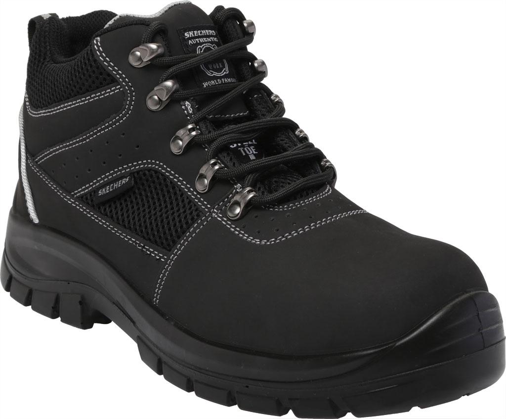 Men's Skechers Work Trophus Letic Steel Toe Boot, Black, large, image 1