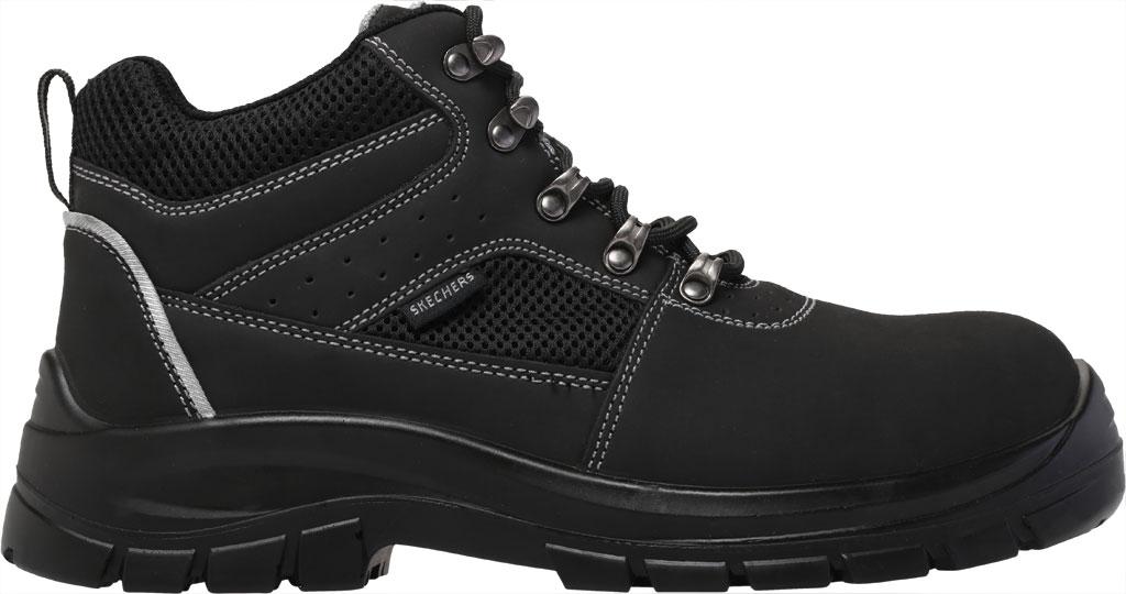 Men's Skechers Work Trophus Letic Steel Toe Boot, Black, large, image 2