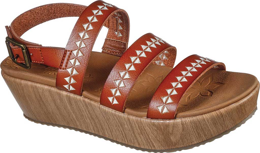 Women's Skechers Becka Counting Summers Wedge Sandal, Luggage, large, image 1