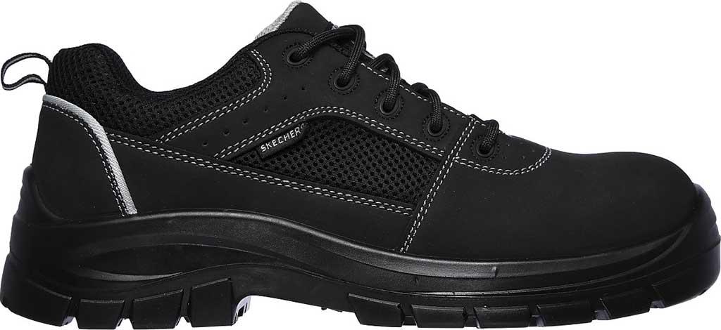 Men's Skechers Work Trophus Steel Toe Sneaker, Black, large, image 2