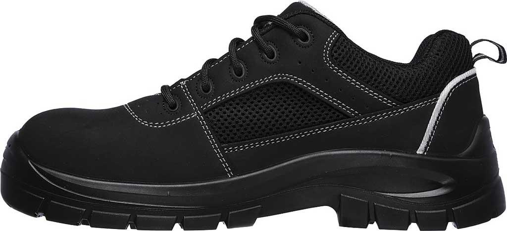Men's Skechers Work Trophus Steel Toe Sneaker, Black, large, image 3