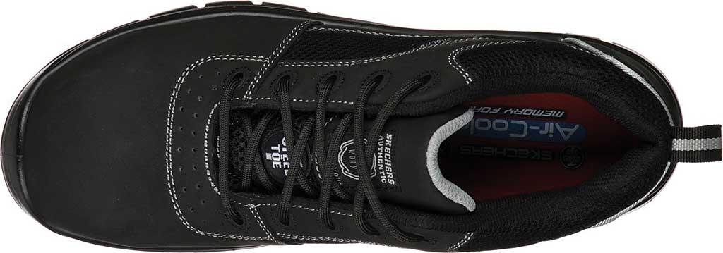 Men's Skechers Work Trophus Steel Toe Sneaker, Black, large, image 4