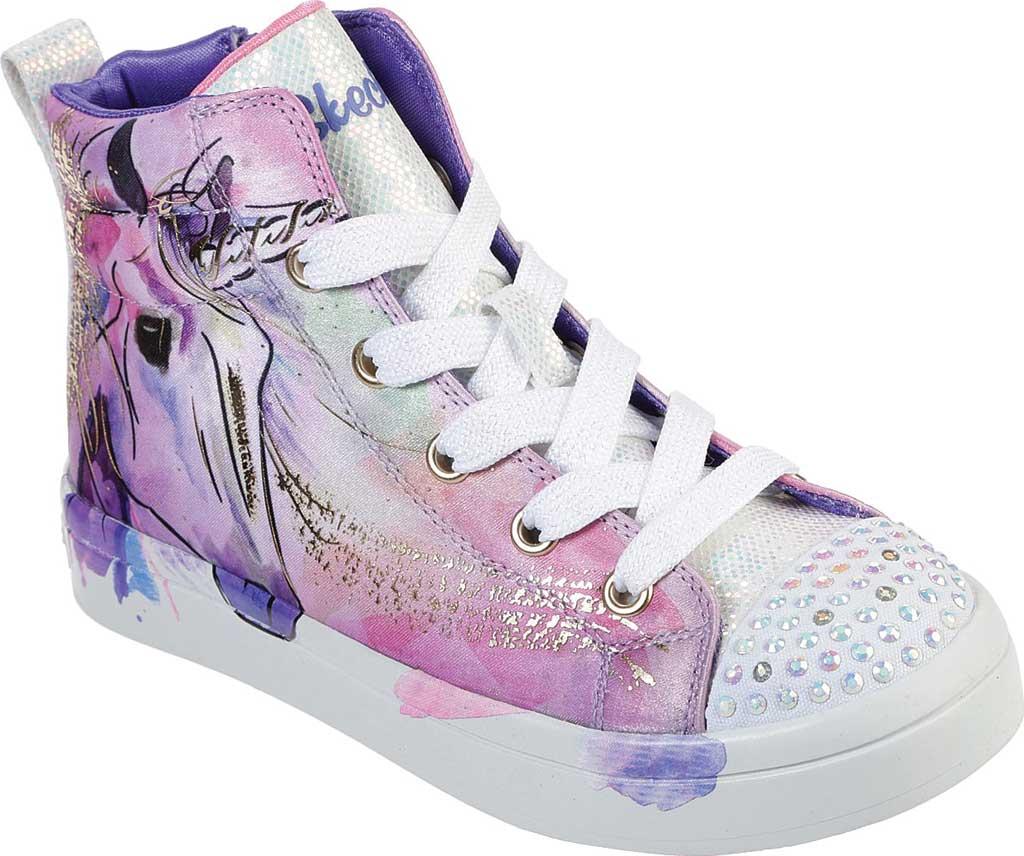 Girls' Skechers Twinkle Toes Twi-Lites Unicorn Splash Sneaker, Lavender/Multi, large, image 1