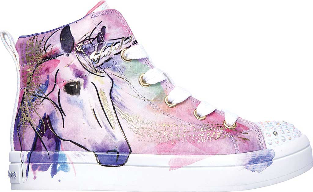 Girls' Skechers Twinkle Toes Twi-Lites Unicorn Splash Sneaker, Lavender/Multi, large, image 2