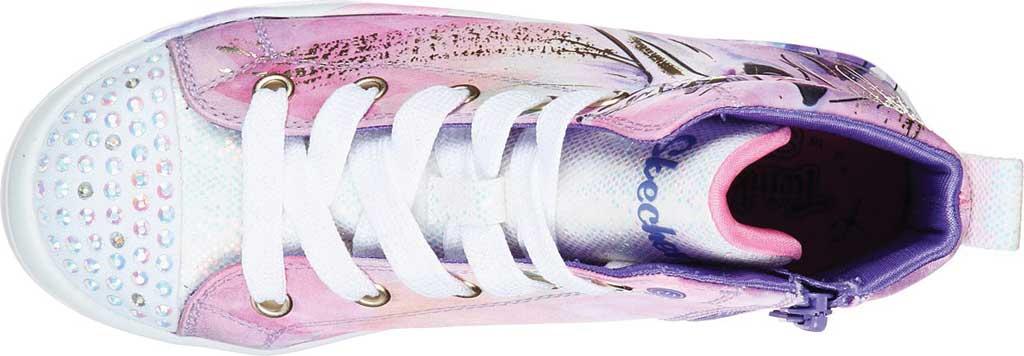 Girls' Skechers Twinkle Toes Twi-Lites Unicorn Splash Sneaker, Lavender/Multi, large, image 4