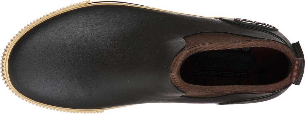 Men's Skechers Work Moltke Pull On Waterproof Boot, Brown, large, image 4